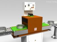 Smagnetizzatori in linea e fuori linea con nastro trasportatore per la smagnetizzazione di pezzi singoli o posti all'interno di contenitori