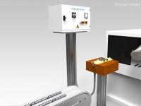 Smagnetizzatori in linea, inseriti in processi automatizzati con trasporto pezzi con robot/manipolatore: smagnetizzazione dei pezzi singoli o simultaneamente di più pezzi, o posti in contenitore.