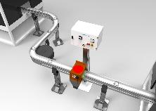 """Smagnetizzatori in linea inseriti in catene di trasferimento flessibili, serie """"D-F"""", """"D-R"""", """"D-B"""" e simili"""