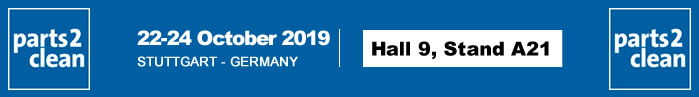 Visit us at PARTS2CLEAN from the 22nd to the 24th of October 2019
